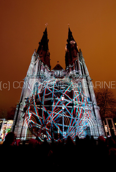 The Diplolia installation from Onionlab at the Glow Lightfestival in Eindhoven (Holland, 11/11/2015)