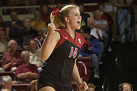 28 October 2005: Courtney Schultz during Stanford's 3-0 win over Oregon State in Stanford, CA.