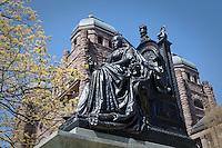 Queen Victoria sculpture is seen on Queen's Park yard in Toronto April 19, 2010.