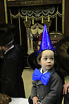 Israel, Purim celebration at the Premishlan Synagogue in Bnei Brak