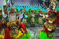 Desfile de carnaval no sambódromo. União de Jacrepaguá. Rio de Janeiro. 2008. Foto de Luciana Whitaker