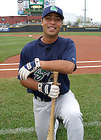 August 30, 2003:  Pedro Esparragoza of the Beloit Snappers during a game at Fifth Third Field in Dayton, Ohio.  Photo by:  Mike Janes/Four Seam Images