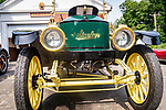 WOODBURY, CT. 16 July 2019-071619 - The front of a 1912 Stanley Steamer sits at the Hotchkissville Firehouse stopping for water in Woodbury on Tuesday. The Steamers need to stop every 35-50 miles to fill up with water as they operate by steam. A large group of owners of Stanley Steamers from around the country have gathered driving around the area touring the Litchfield Hills. Bill Shettle Republican-American