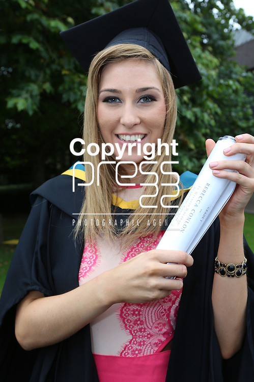 24/8/2014  With Compliments.  Attending the University of Limerick conferrings was Rebecca Conlon, Castlebar who received a BSc(Education) in Biological Sciences.<br /> Picture Liam Burke/Press 22