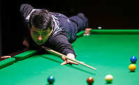 26th November 2019; York, England;  Lu Ning of China competes during the UK Snooker Championship 2019 first round match with Joe O Connor of England in York on Nov. 26, 2019.