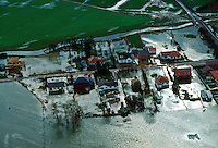 The flooded town of Towyn in North Wales RESERVED USE - NOT FOR DOWNLOAD -  FOR USE CONTACT TIM GRAHAM