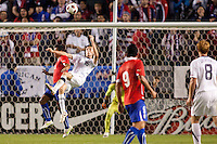 USA's Mixx Diskerud (16) performs a Cheliano. US Men's National team played the National team of Chile to 1-1 draw at Home Depot Center stadium in Carson, California on Saturday January 22, 2010.