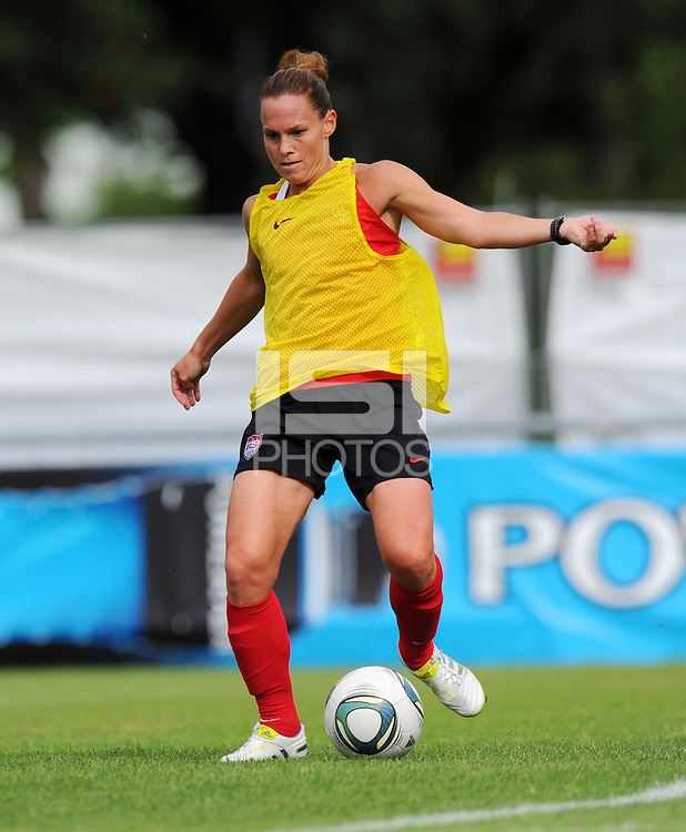 Christie Rampone during a training session at the FIFA Women's World Cup 2011 in Germany in Dresden, Germany on June 23th, 2011.
