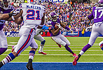 19 October 2014: Minnesota Vikings wide receiver Cordarrelle Patterson takes a short pass to score a 4-yard touchdown in the second quarter against the Buffalo Bills at Ralph Wilson Stadium in Orchard Park, NY. The Bills defeated the Vikings 17-16 in a dramatic, last minute, comeback touchdown drive. Mandatory Credit: Ed Wolfstein Photo *** RAW (NEF) Image File Available ***