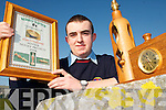 WOODEN HEART: Alan O'Halloran from Ballyheigue who won the 2006 Kerry Chapter Novice Wood turner Award at a cermony in Tralee at the weekend.
