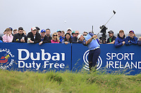 Lee Westwood (ENG) tees off the 18th tee during Saturday's Round 3 of the Dubai Duty Free Irish Open 2019, held at Lahinch Golf Club, Lahinch, Ireland. 6th July 2019.<br /> Picture: Eoin Clarke | Golffile<br /> <br /> <br /> All photos usage must carry mandatory copyright credit (© Golffile | Eoin Clarke)
