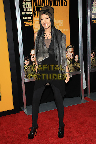 NEW YORK, NY - FEBRUARY 4: Vera Wang attends the New York Premiere of &quot;The Monuments Men&quot; at the Ziegfeld Theatre on February 4, 2014 in NEW YORK CITY<br /> <br /> CAP/LNC<br /> &copy;TOM/LNC/Capital Pictures