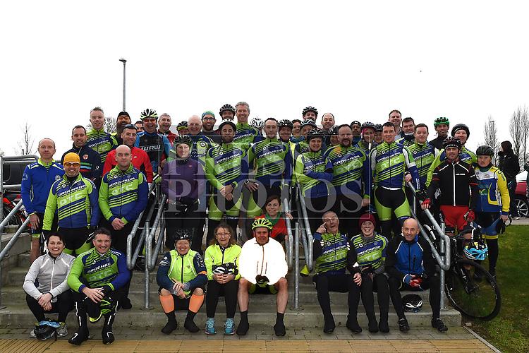 Members of the Drogheda Triathlon Club who took part in the Duleek Parish annual spotive cycle inn aid of Duleek National School. Photo:Colin Bell/pressphotos.ie