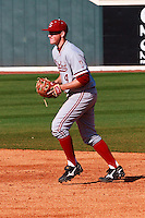 NASHVILLE, TENNESSEE-Feb. 26, 2011:  Eric Smith of Stanford prepares to field against Vanderbilt, during a game at Vanderbilt University in Nashville, Tennessee.  Vanderbilt defeated Stanford 8-7.
