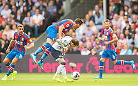 Crystal Palace Joel Ward and Everton Bernard during the Premier League match between Crystal Palace and Everton at Selhurst Park, London, England on 10 August 2019. Photo by Andrew Aleksiejczuk / PRiME Media Images.