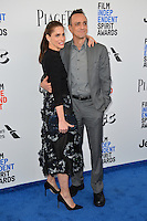 Amanda Peet &amp; Hank Azaria at the 2017 Film Independent Spirit Awards on the beach in Santa Monica, CA, USA 25 February  2017<br /> Picture: Paul Smith/Featureflash/SilverHub 0208 004 5359 sales@silverhubmedia.com