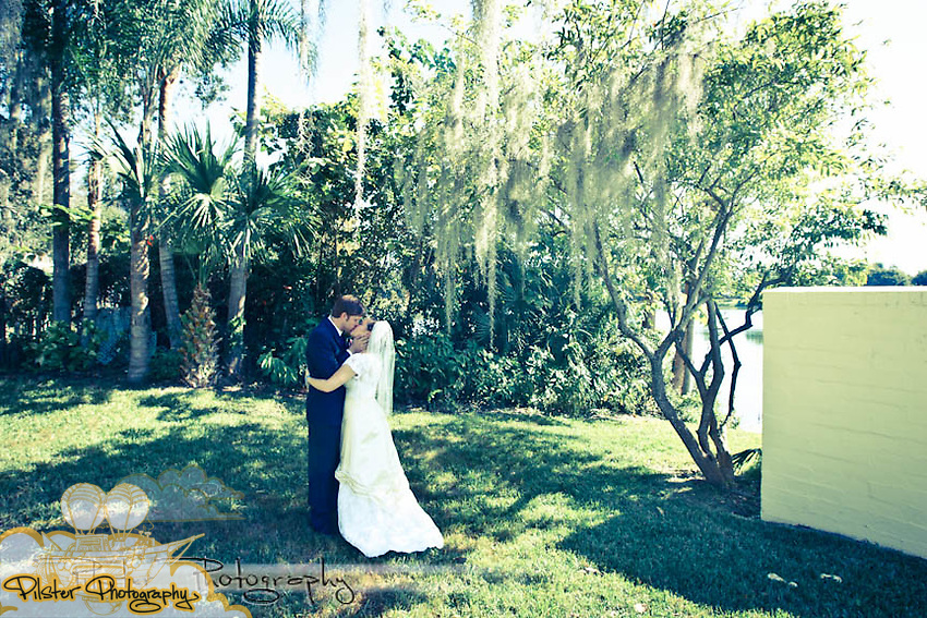 The wedding of Molly Owens and Joshua Weidenhamer on Saturday, November 13, 2010, at Molly's dad's home along Lake Formosa in Orlando, Florida. There wedding revolved around a vintage picnic theme. (Chad Pilster, PilsterPhotography.net)