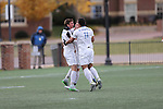SALEM, VA - DECEMBER 3:Tufts players celebrate the winning goal during theDivision III Men's Soccer Championship held at Kerr Stadium on December 3, 2016 in Salem, Virginia. Tufts defeated Calvin 1-0 for the national title. (Photo by Kelsey Grant/NCAA Photos)