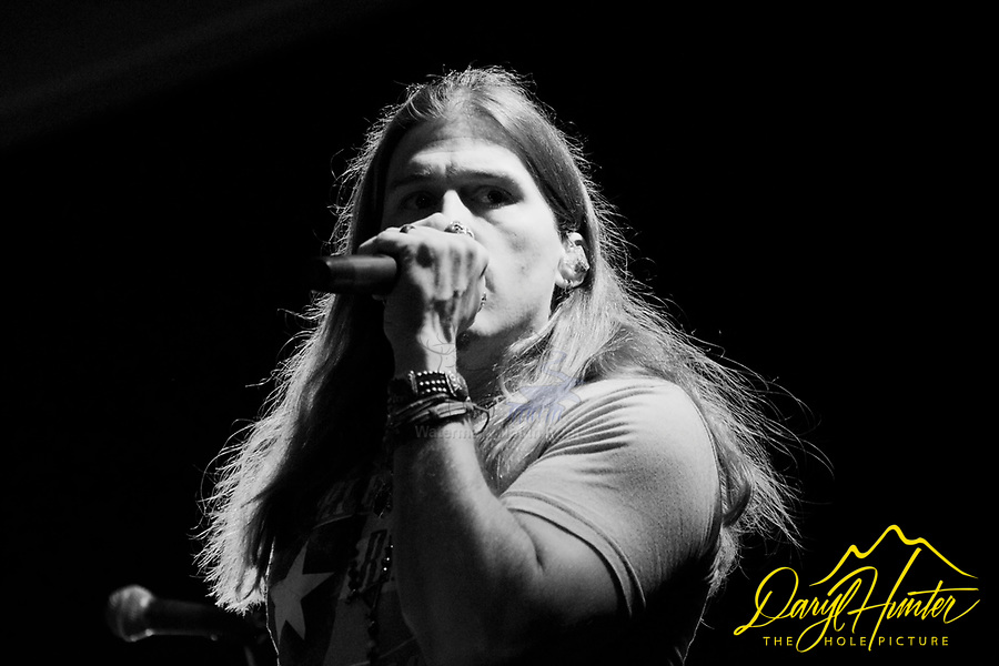 Black and White Jason Michael Carroll portrait taken at a Concert in Naples Italy