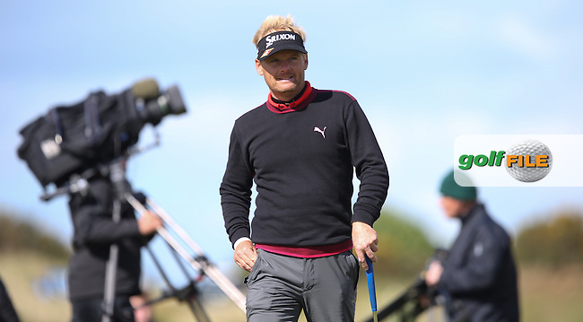 In a topsy turvy final round Soren Kjeldsen (DEN) keeps his nose ahead of the field during the 2015 Dubai Duty Free Irish Open Hosted by The Rory Foundation at Royal County Down Golf Club, Newcastle County Down, Northern Ireland. 30/05/2015. Picture David Lloyd | www.golffile.ie