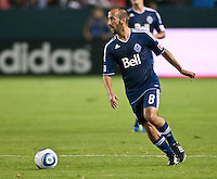 CARSON, CA - September 17, 2011: Vancouver Whitecaps midfielder Peter Vagenas (20) during the match between LA Galaxy and Vancouver Whitecaps at the Home Depot Center in Carson, California. Final score LA Galaxy 3, Vancouver Whitecaps 0.