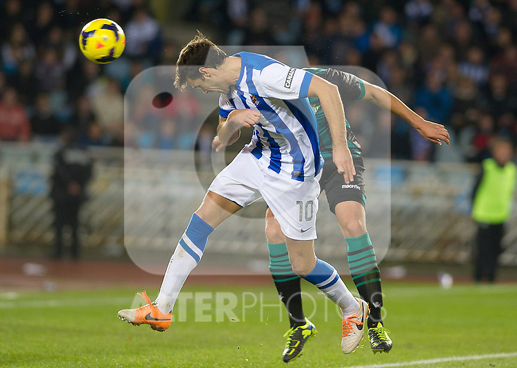 Real Sociedad's Xabi Prieto during La Liga match.November 23,2013. (ALTERPHOTOS/Mikel)
