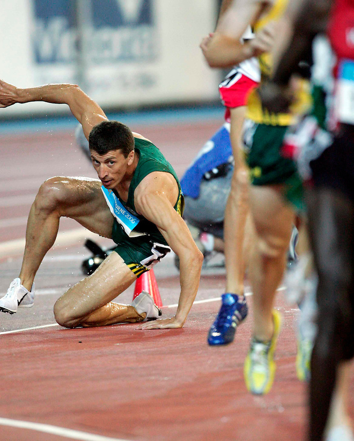 Athletics at the 2006 Melbourne Commonwealth Games. Australia's Youcef Abdi falls during the race.