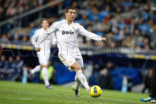 28.01.2012 SPAIN -  La Liga matchday 21th  match played between Real Madrid vs Real Zaragoza at Santiago Bernabeu stadium. The picture shows Cristiano Ronaldo (Real Madrid)