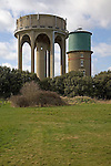 Old and new water towers, Southwold, Suffolk, England