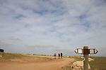 Israel, Shephelah, Israel Trail at Hurvat Tzura, site of an ancient settlement