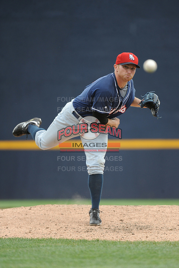 New Hampshire Fisher Cats pitcher Arik Sikula (12) during game against the Trenton Thunder at ARM & HAMMER Park on June 22, 2014 in Trenton, NJ.  New Hampshire defeated Trenton 7-2.  (Tomasso DeRosa/Four Seam Images)