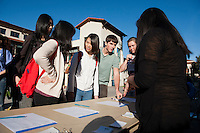 Photo of Occidental College's MLK Day of Service on Saturday, Jan. 28, 2012. Students, staff and alumni volunteered their day to help in the community. (Photo by Marc Campos, Occidental College Photographer)