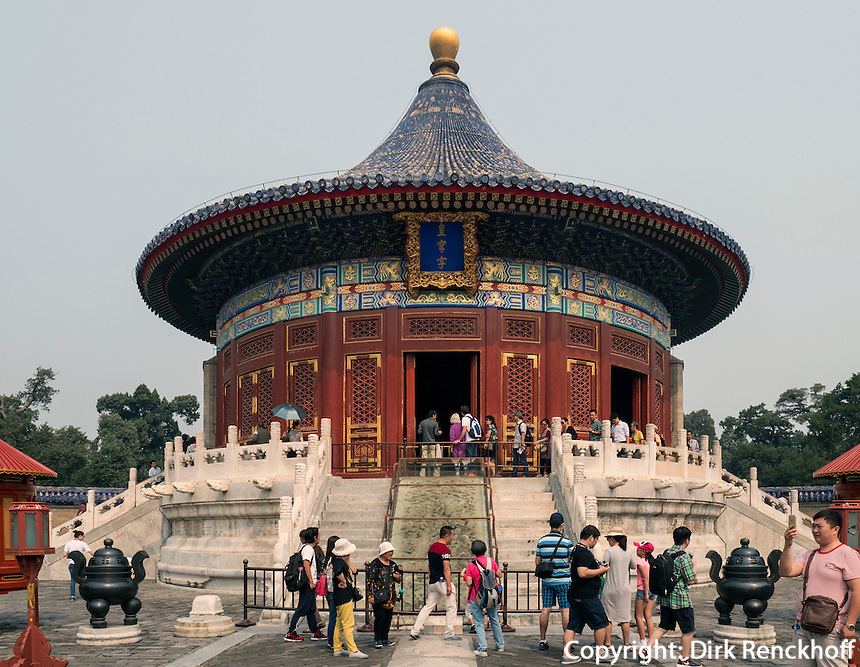 Himmelsgew&ouml;lbe im Himmelstempel Park, Peking, China, Asien, UNESCO-Weltkulturerbe<br /> Heavenly vault, park of temple of Heaven, Beijing, China, Asia, world heritage