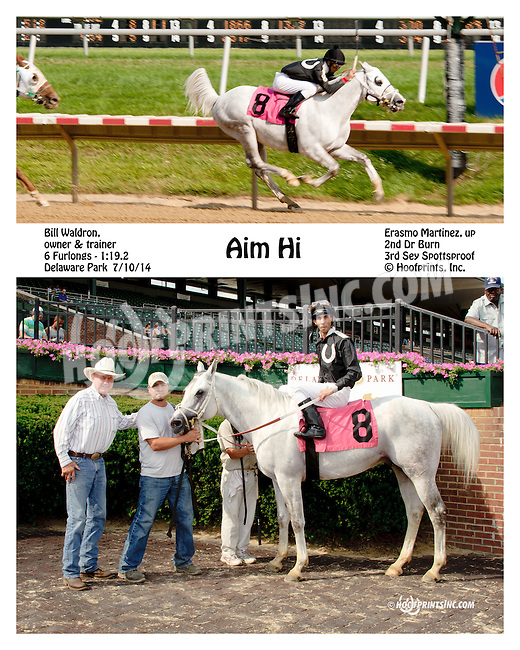 Aim Hi winning at Delaware Park on 7/10/14