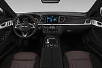 Stock photo of straight dashboard view of a 2018 Genesis G80 Sport 4 Door Sedan