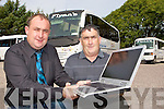 Gerard and Kieran Flynn Castlemaine who are running the College Link bus service with Wifi service