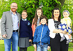 Amy with Sean Martin, Rose Kelly, Connor Kelly, Lisa McEvoy and Daisy Martin during Confirmation for Duleek National School on Friday 22nd May 2015.<br /> Picture:  Thos Caffrey / www.newsfile.ie