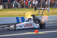 Jun 11, 2016; Englishtown, NJ, USA; NHRA top fuel driver Richie Crampton during qualifying for the Summernationals at Old Bridge Township Raceway Park. Mandatory Credit: Mark J. Rebilas-USA TODAY Sports