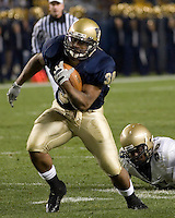 10 October 2007: Pitt running back Conredge Collins..The Navy Midshipmen beat the Pitt Panthers 48-45 in double overtime on October 10, 2007 at Heinz Field, Pittsburgh, Pennsylvania.