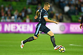 3rd November 2017, Melbourne Rectangular Stadium, Melbourne, Australia; A-League football, Melbourne City FC versus Sydney FC; Brandon O'Neill of Sydney FC runs with the ball