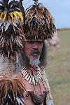 A Rapa Nui chief. Easter Island, Chile