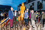 Ger counihan, James daly, Mary McGillicuddy, orna Eccles, Brendan foley, Mike Kenny and Trudi O'Sullivan at the unveiling of the statue in Killorglin Saturday night