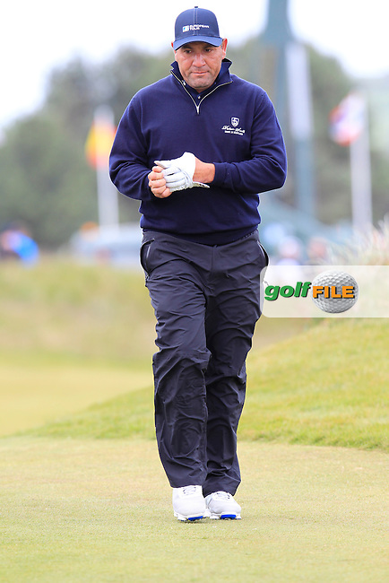 Ricardo GONZALEZ (ARG) at the 18th green during Saturday's Round 3 of the 2015 Dubai Duty Free Irish Open, Royal County Down Golf Club, Newcastle Co Down, Northern Ireland 5/30/2015<br /> Picture Eoin Clarke, www.golffile.ie