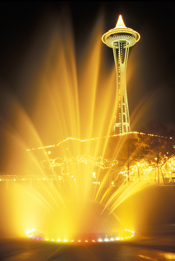 International Fountain and Space Needle, Seattle Center, Seattle, Washington