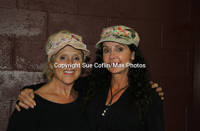 """General Hospital's Jackie Zeman with her sister Lauren (in Hats for Health booth at Women's Expo) both wearing Hats for Health as Daytime's TV and Broadway stars get involved in helping launch Jane Elissa's """"Hats For Health"""" to promote awareness and to raise money for Leukemia/Lymphoma cancer research and patient aid. The Hats For Health will be available through Jane Elissa at 917-325-1085 and through the new website """"Hats For Health"""". Jackie Zeman was at the 8th Annual Connecticut Women's Expo presented by Comcast on September 11 & 12, 2010, Hartford, Connecticut.  (Photo by Sue Coflin/Max Photos)"""