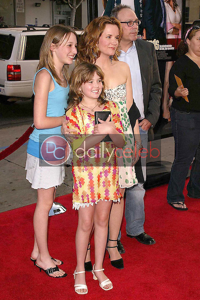 Lea Thompson and Director Howard Deutch and their daughters Madeline and Zoey