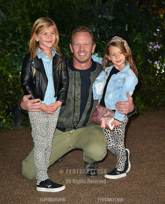 "Ian Ziering, Mia Loren Ziering & Penna Mae Ziering at the Los Angeles premiere of ""Jumanji: Welcome To the Jungle"" at the TCL Chinese Theatre, Hollywood, USA 11 Dec. 2017<br /> Picture: Paul Smith/Featureflash/SilverHub 0208 004 5359 sales@silverhubmedia.com"