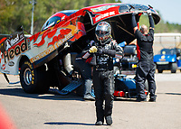 Mar 18, 2017; Gainesville , FL, USA; NHRA funny car driver Jonnie Lindberg during qualifying for the Gatornationals at Gainesville Raceway. Mandatory Credit: Mark J. Rebilas-USA TODAY Sports