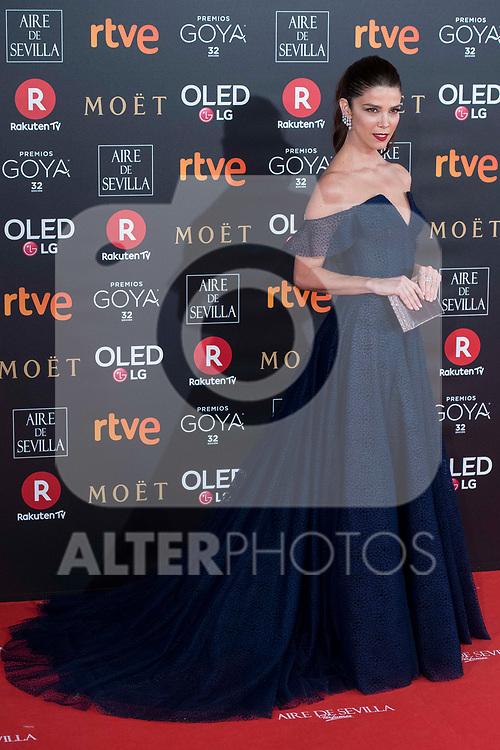 Juana Acosta attends red carpet of Goya Cinema Awards 2018 at Madrid Marriott Auditorium in Madrid , Spain. February 03, 2018. (ALTERPHOTOS/Borja B.Hojas)