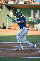 Pablo Abreu (12) of the Helena Brewers bats against the Ogden Raptors at Lindquist Field on July 14, 2018 in Ogden, Utah. Ogden defeated Helena 8-6. (Stephen Smith/Four Seam Images)